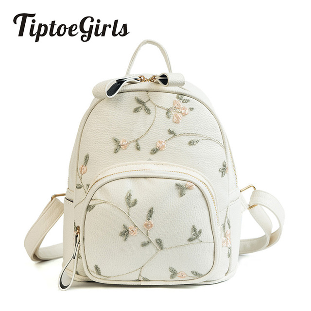 Lace Flower Lady Backpack Korean Version of the New Simple Fashion High Quality Large Capacity Casual Wild Travel Backpack