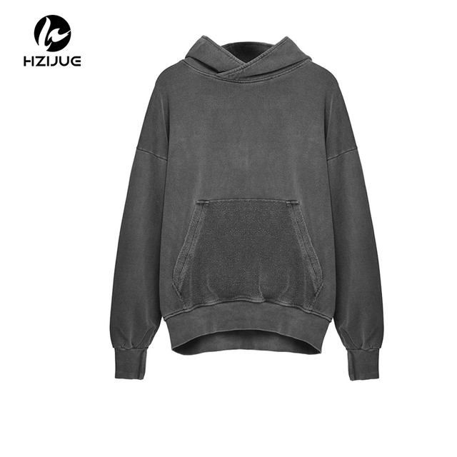 2e55b498 US $24.97 49% OFF|HZIJUE 2018 autumn New Streetwear Pullovers Plain Fleece  Oversized Hoodie Men Hip Hop groot Clothes Tracksuit winter Hoodies-in ...