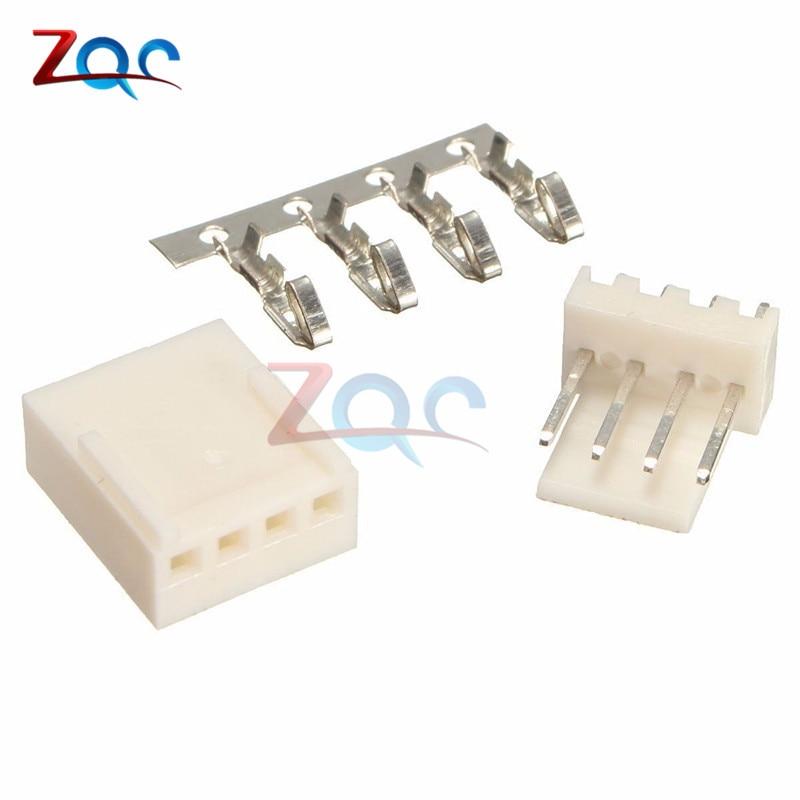 20set Kit4 Pin KF2510-4P KF2510 4P 2.54mm Pitch Terminal Housing Pin Header Connectors Adaptor Kits
