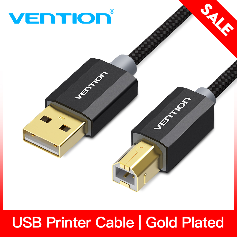 Vention USB 2.0 Printer Cable Gold Plated Cable USB High Speed Printer Scanning Cable for Camera Computer Connect with Printer diy makey kit with usb cable alligator clips support connect everyday objects to computer keys for kids children