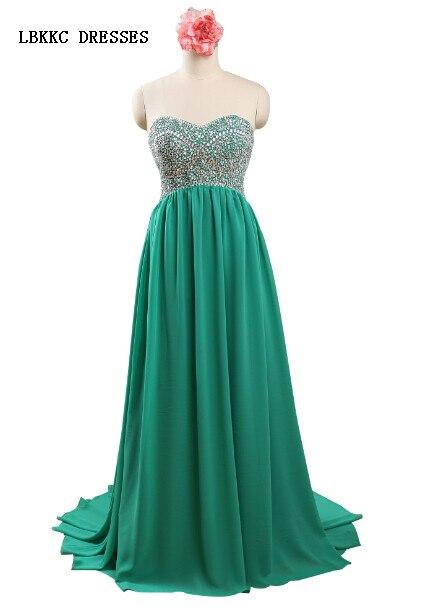 c8ef6d5720 Sweetheart Bez Rękawów Szyfonowa Zielona Długa Suknia Zroszony Wieczór  Party Suknie Plus Size Suknie Specjalne Okazje