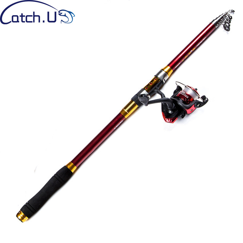 Catch.U Telescopic Rod Set Fishing Rod Combo With Reel Telescopic Fishing Rods Carbon Spinning Rods