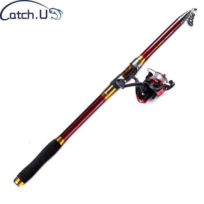 Catch.U Telescopic Rod Set Fishing Rod Combo With Reel Telescopic Fishing Rods Carbon Spinning Rods