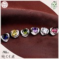 Beautiful Mini Heart Design 925 Solid Silver Cute Stud Earring With Different Color Stones For Woman