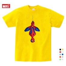 Free Shipping Boys Spiderman Ironman Captain America T Shirt Summer Short Sleeve Superhero Tee Kids Cotton shirt 3T-9T Size