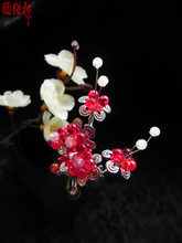 XiMei LingHan Gold and Silver 2 colors Colored glaze plum blossom classical hair stick price of 1 pair vintage wedding accessory