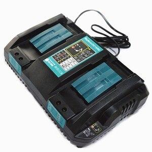 Image 3 - Двойное зарядное устройство для Makita 14,4 V 18V BL1830 Bl1430 DC18RC DC18RA EU Plug