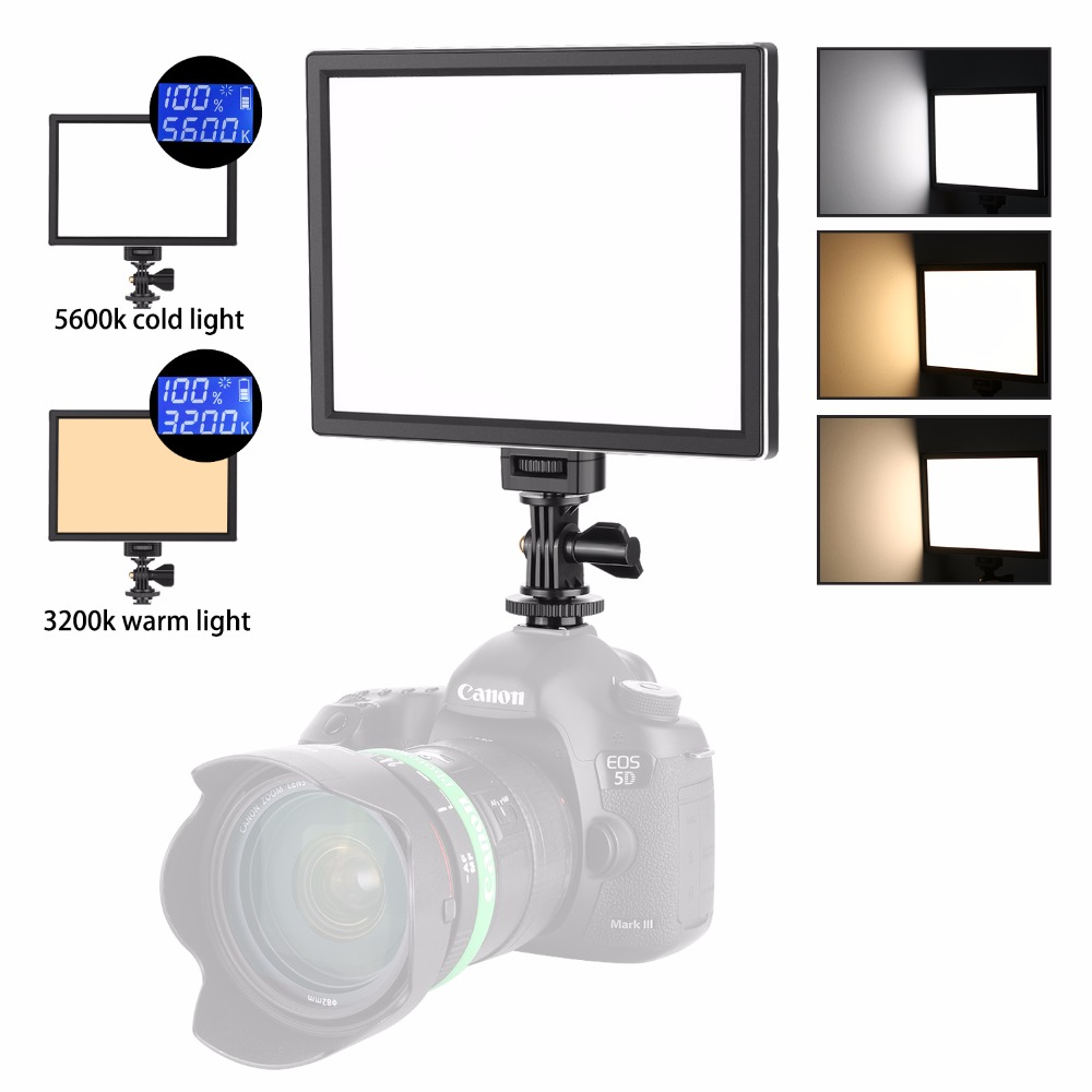 Angelesinertes Comprar Neewer Cámara Led Video Luz Smd Panel De Luz Para Iluminación Más Suave Fotografía 5600 K A 3200 Temperatura Color Variable Online Baratos