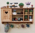 Rustic Wood Hanging Cabinet Storage 80*41*16CM