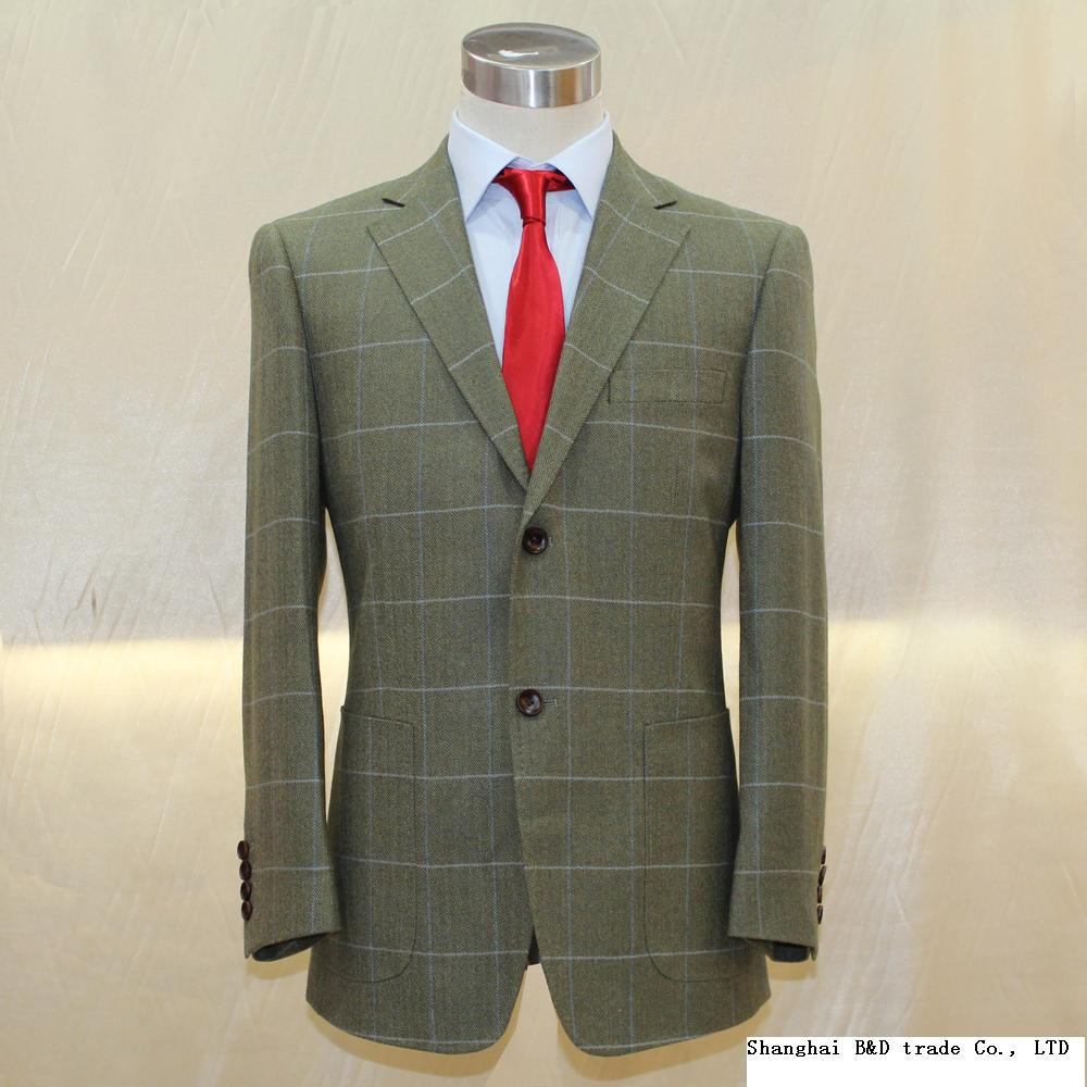 heavy army green wool with big window plain uk style mans business casual jacket ,tailor made mans MTM jacket 2018 VA