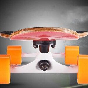Image 5 - 4 ホイールカエデ完全なスケートダンスロングボードデッキダウンヒルドリフト道路ストリートスケートボードロングボード用アダルトユース