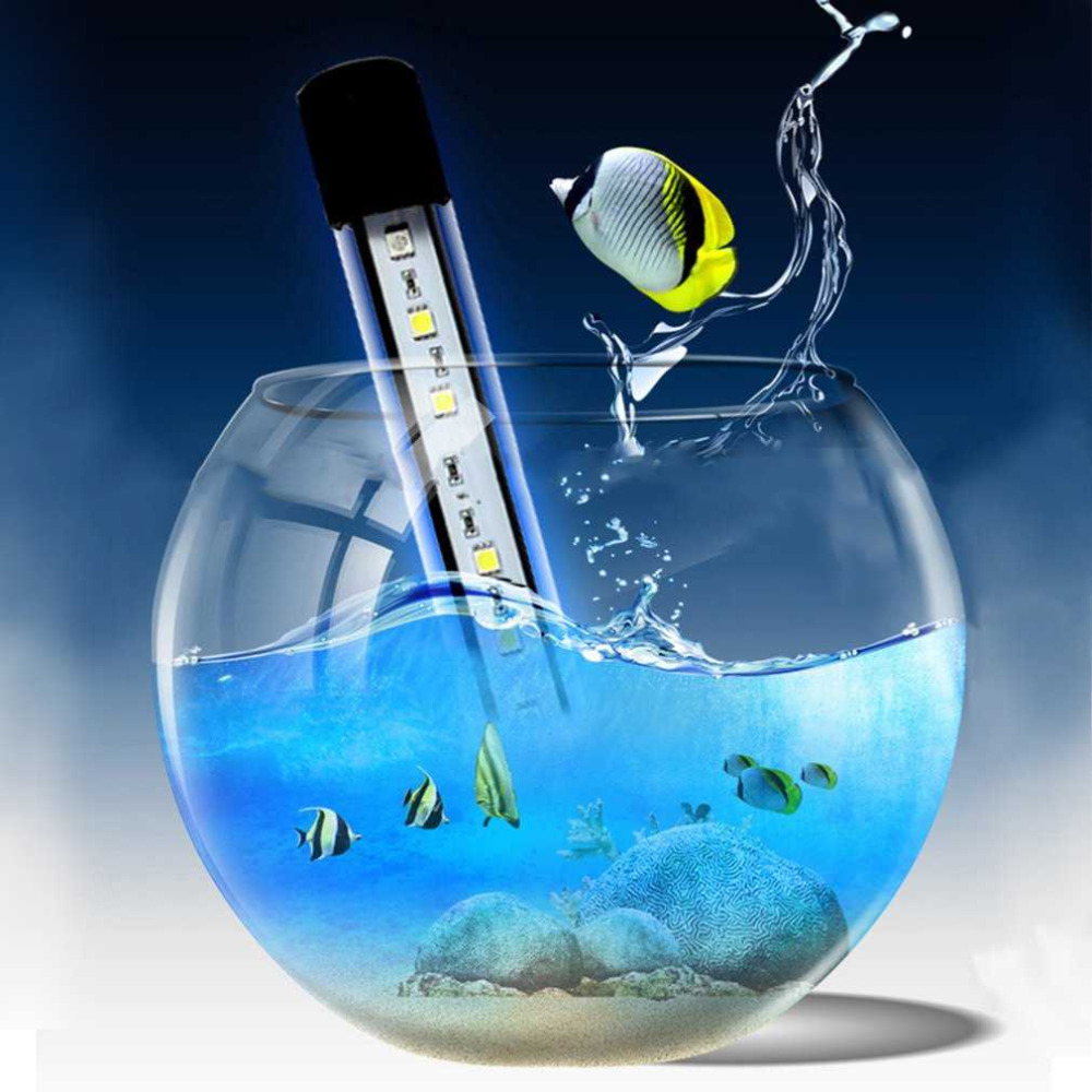2 colors aquarium fish tank led light amphibious use white for Blue light for fish tank