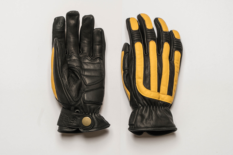 Image 4 - Mens Motorcycle Retro Sheepskin Gloves Scooter Cafe Bobber Touchscreen with warm liningGloves