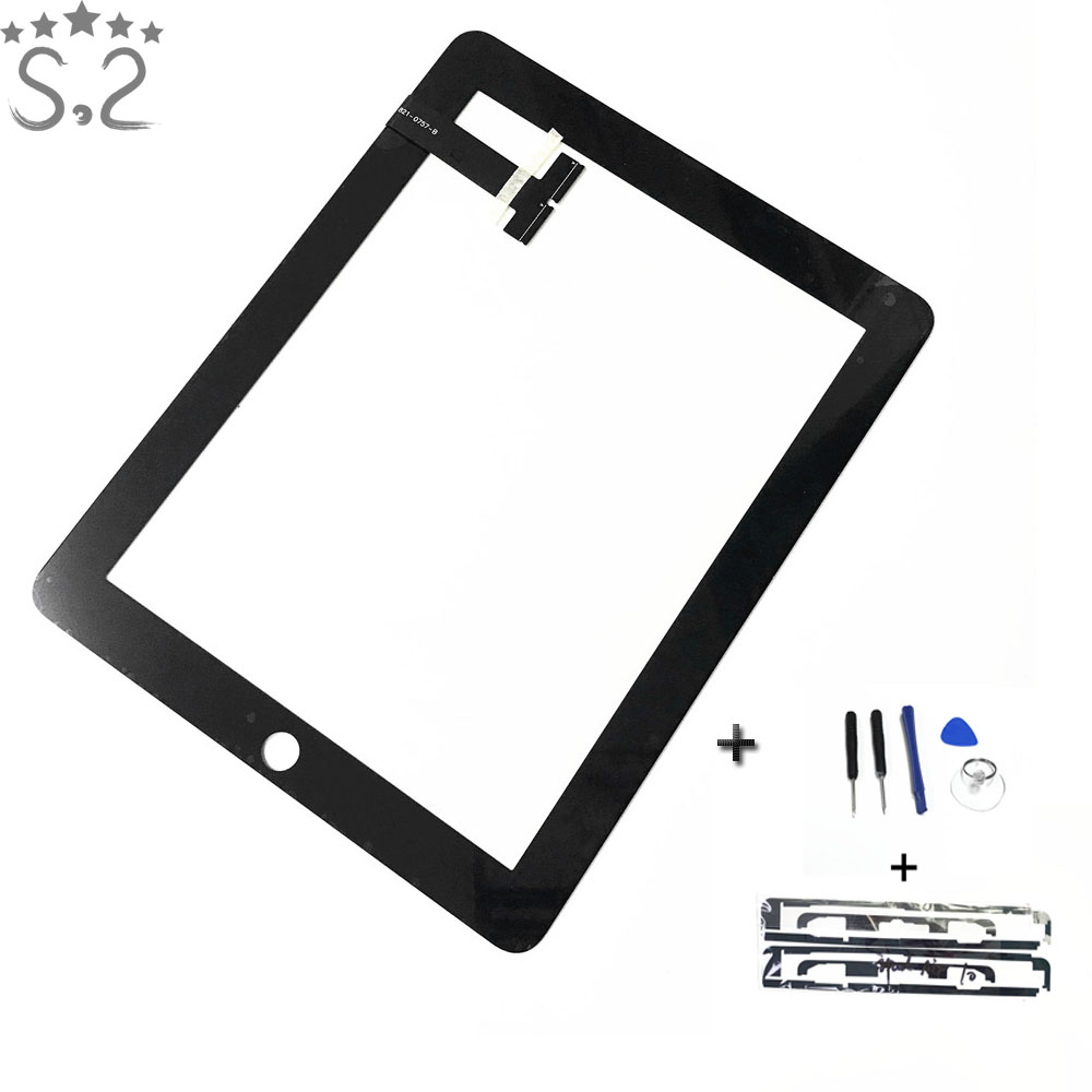 1PC A1219 A1337 Screen For IPad 1 1st Touch Screen Digitizer Sensor Panel With Home Buttom High Quality Free Gift
