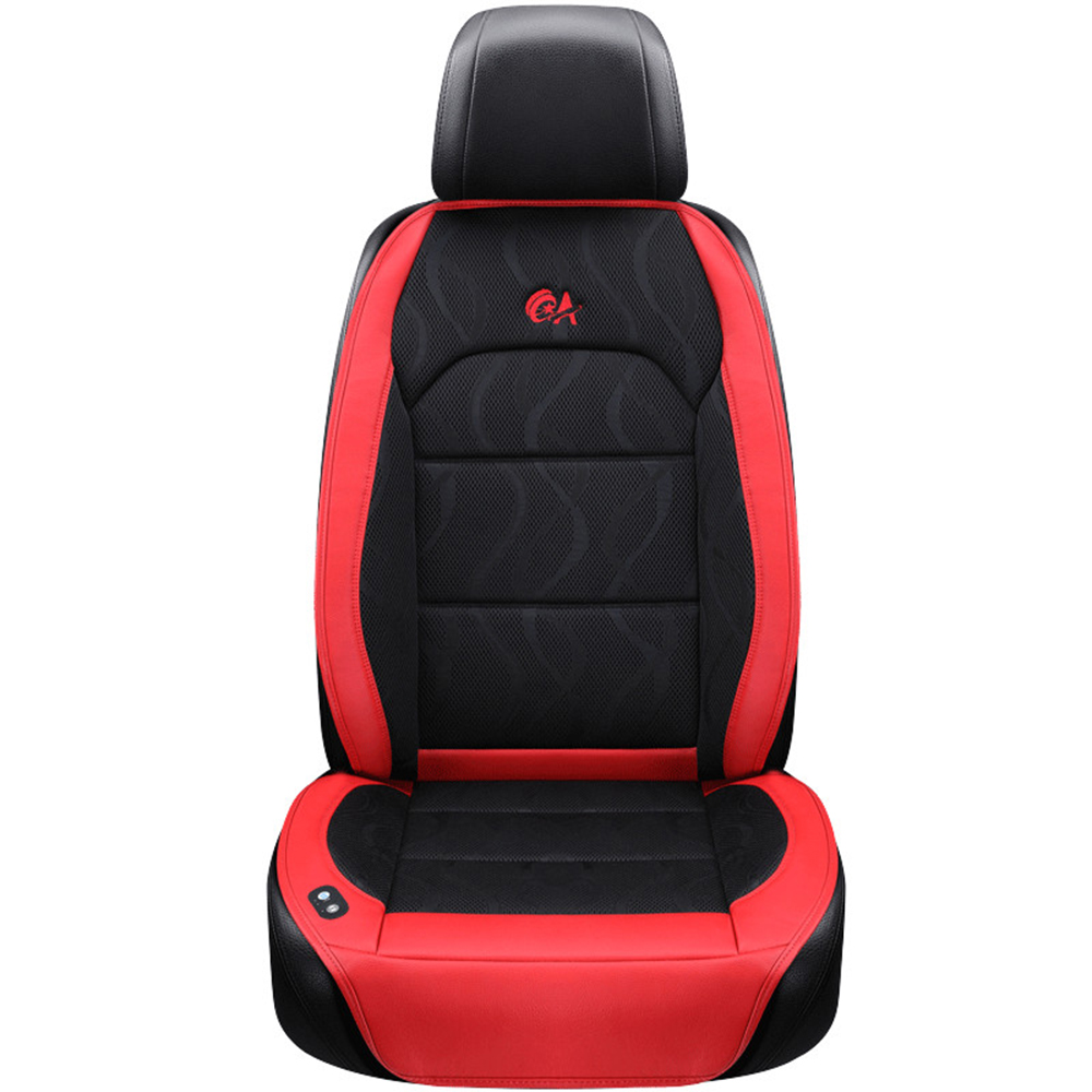 6 Fan + 2 Massage, zomer Auto Zitkussen Luchtkussen met Ventilator Stoelhoezen Autostoel Cooling Vest Koele Zomer Ventilatie Kussen - 4