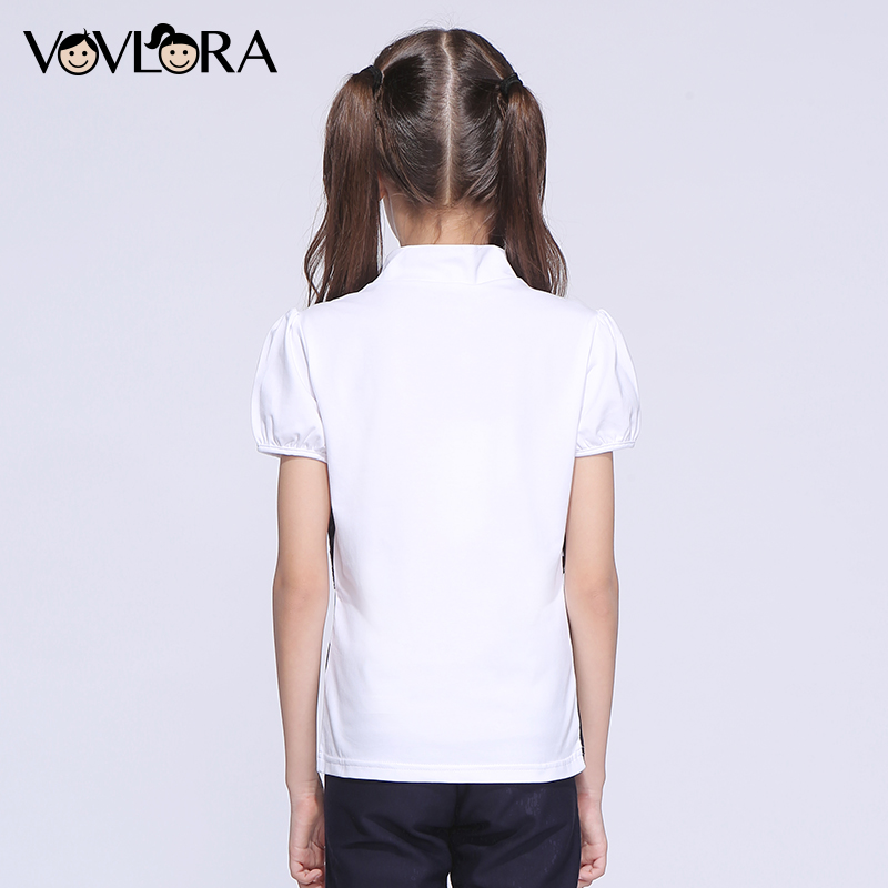 3cc16601891b T shirt Kids Cotton Patchwork Lace Girls T shirts Tops Turtleneck Knitted  Summer School Clothes 2018 Size 9 10 11 12 13 14 Years-in Tees from Mother    Kids ...