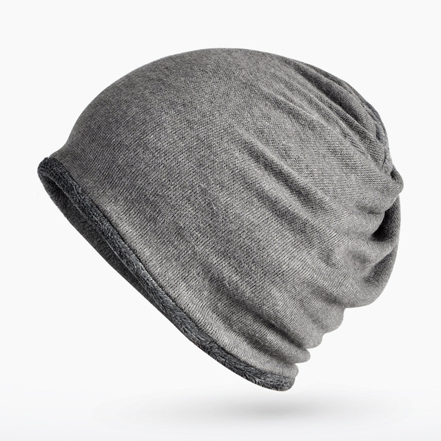 Hat manufacturers wholesale hat autumn and winter men and women hat winter  warm double side plus velvet cap head 0263 f82f1fdb87a