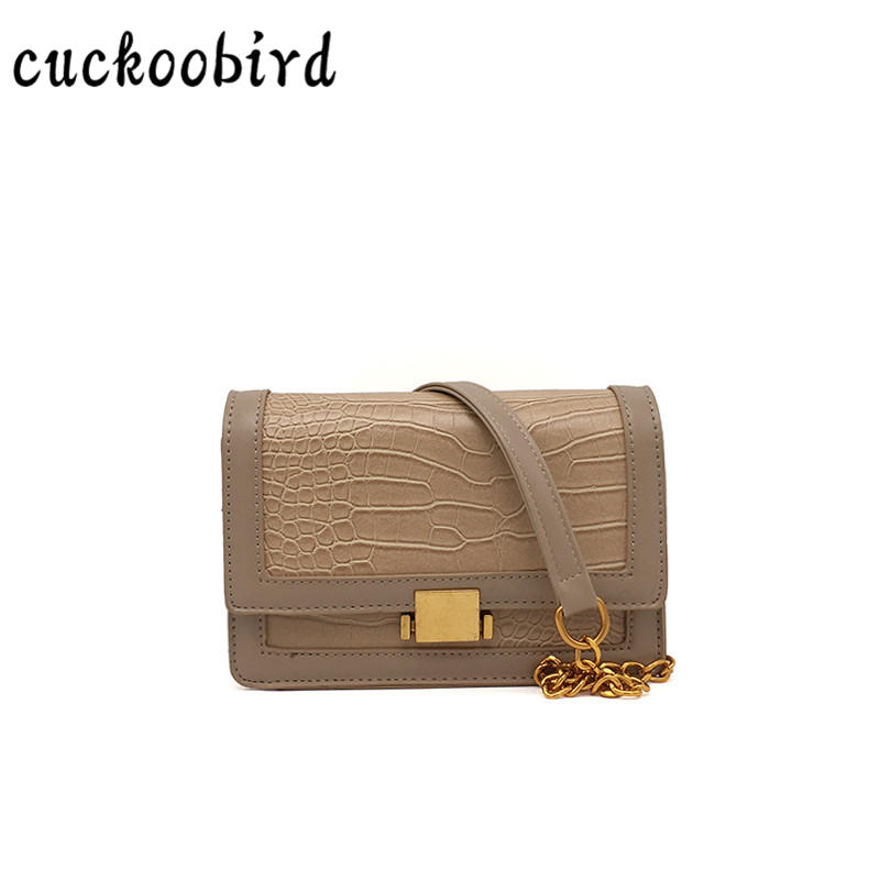 Vintage Women Bag PU Leather Mini Small Solid Party Crossbody Bag Female Chain Hasp 2018 New Style Shoulder Bag 3 Colors metallic pu chain crossbody bag