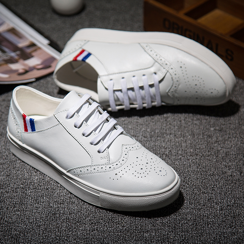 wholesale men shoes white Sneakers casual shoes for mens Genuine Leather shoes autumn Fashion designer shoes