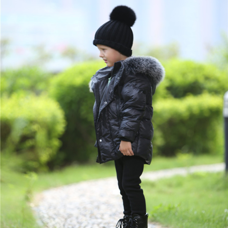New Winter Children Boys Girls Down Jackets Solid Knitted fill with White duck down Very warm For wear in -20 Degrees Celsius russia winter boys girls down jacket boy girl warm thick duck down