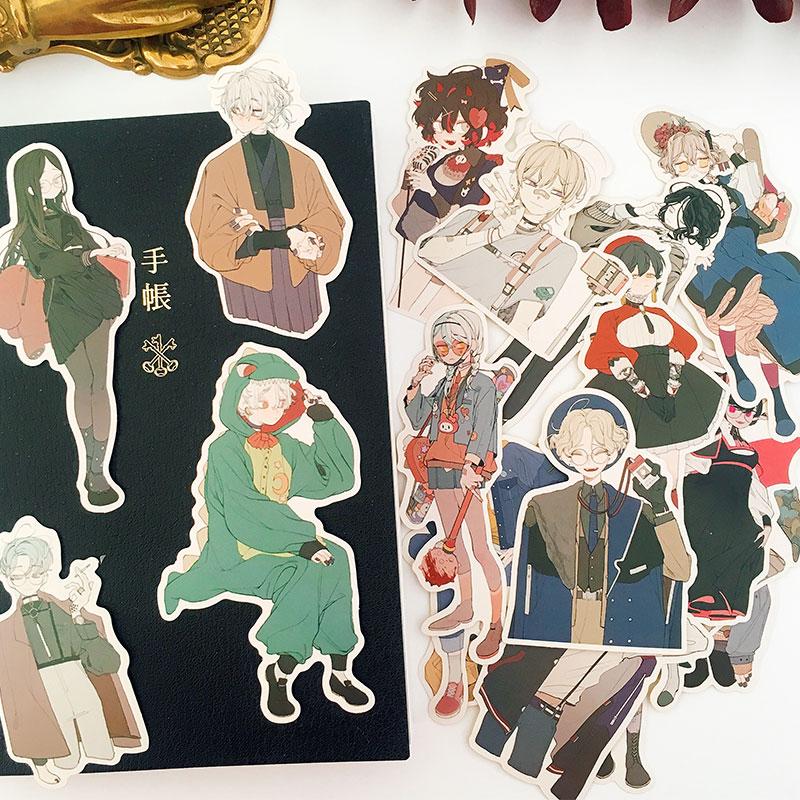 19pcs/pack Anime Sick Lolita/Prince Decorative Sticker DIY Planner Diary Scrapbooking Album Stickers Gift