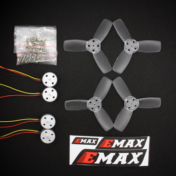 RS1104 5250KV Brushless Motor + T2345 3 Blades propellers CW CCW props for EMAX 130 RC Brushless Racer Drone Q20400 original emax rs1104 5250kv brushless motor t2345 tri blades propellers cw ccw props for 130 rc brushless racer drone q20400