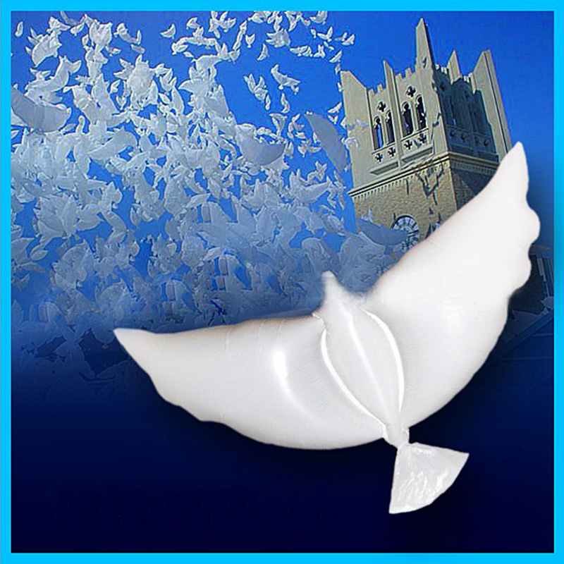 1 pcs White Dove Helium Balloons Pigeon Ballon For Wedding Party Decoration Balloons Foil Balloons Engagement Supplies in Ballons Accessories from Home Garden