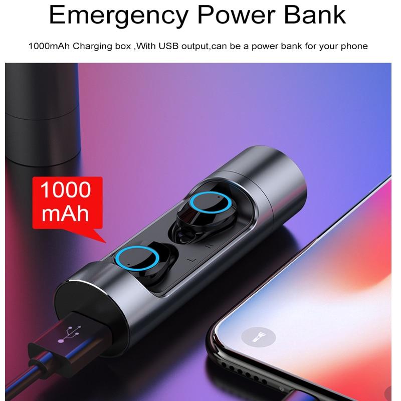 YTOM Mini Sans Fil Casque 3D son Avec Respiration lumière TWS Bluetooth 5.0 Écouteurs Casque avec micro Pour apple xiaomi huawei - 6