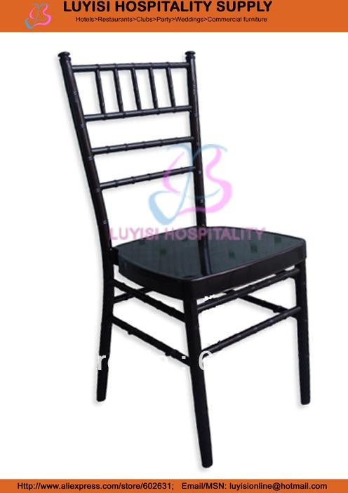 Black Aluminum Tiffany Wedding Chair