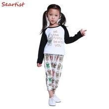 цена на COSPOT Baby Clothing Set Kids Autumn 2Pcs Suits T-shirt+Pants Boys Girls Cotton Leggings 2017 New Children Clothing Set 20C