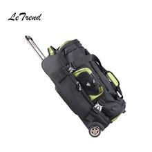 LeTrend 27/32 inch large capacity Travel Bag Rolling Luggage Suitcases Wheel Women Orange Shoulder Bags Men's Backpack