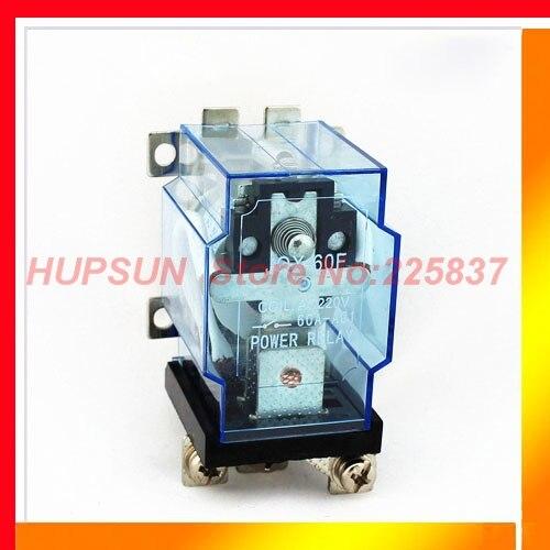 цена на Free shipping JQX-60F relay 1Z 60A 220vac ac 220v coil screw mount terminal power relay