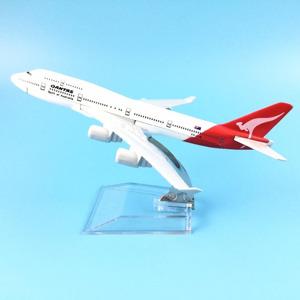 16cm Metal Aircraft Australian Air Qantas B747 400 Airlines Boeing 747 Airways Plane Model Aircraft Airplane Model W Stand