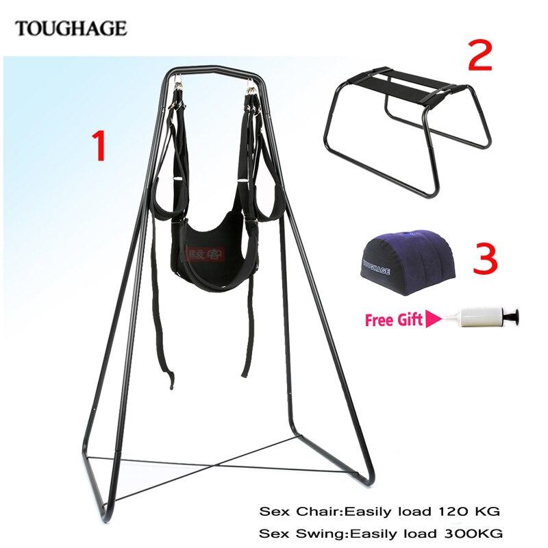 Dureté adulte sexe meubles sexe balançoire chaise oreiller réglable restrictions fétiche sexe Position Bondage Nylon Flirt essentiel