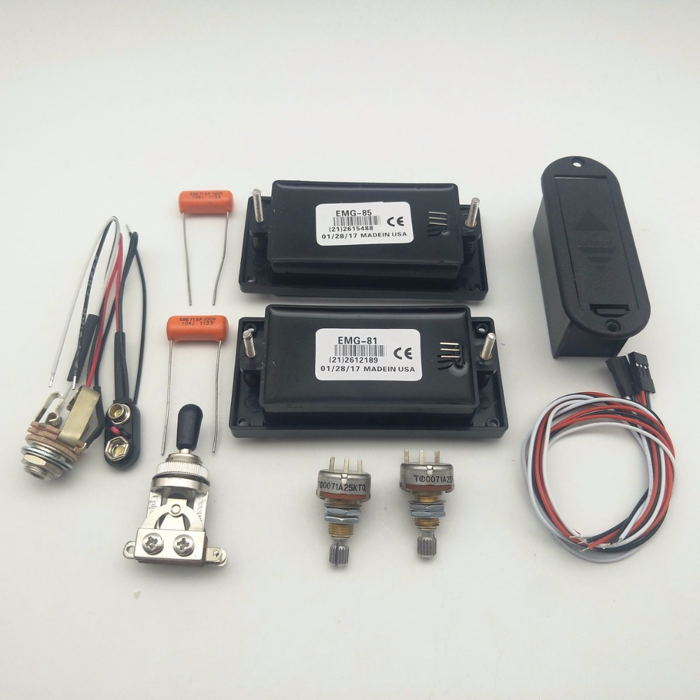 small resolution of aliexpress com buy emg 81 85 active pickup electric guitar pickups with 25k potentiometer parts black 1 set from reliable guitar parts accessories