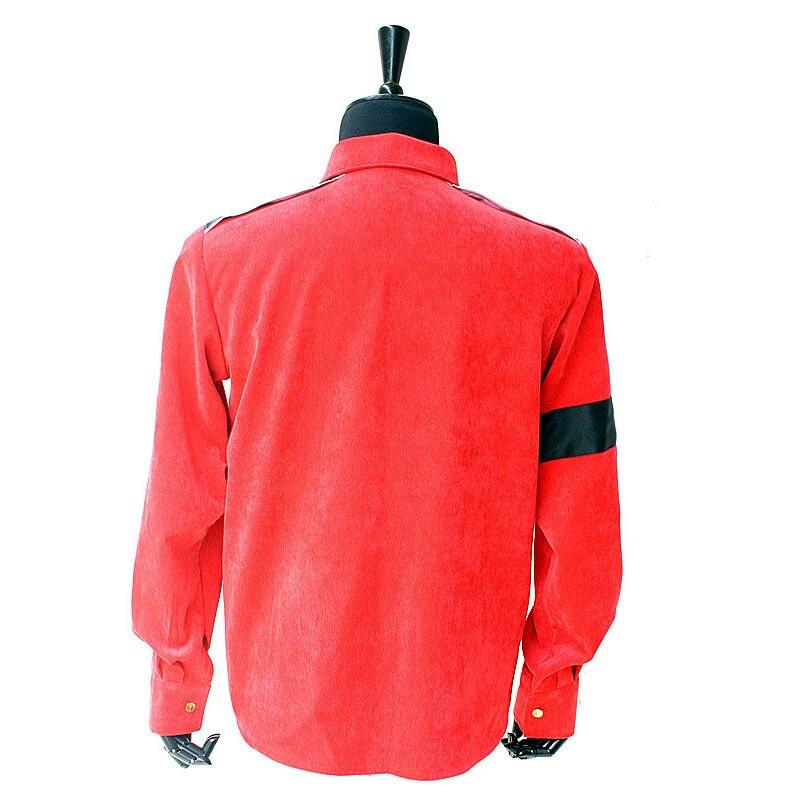 Редкий MJ Майкл Джексон Красный CTE Вельветовая Верхняя одежда рубашка куртка с нарукавниками 1990S