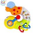 2016 Nueva Lindo Juguetes Para Bebés Musical Eléctrico Gusano Girando Inserte los primeros juguetes educativos para niños niños huile toys 917 xmas regalos