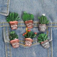 Кактус алоэ нагрудные булавки креативная кнопка значки броши для мужчин и женщин ювелирные изделия Аксессуары подарок для сумки Jeacket Hat