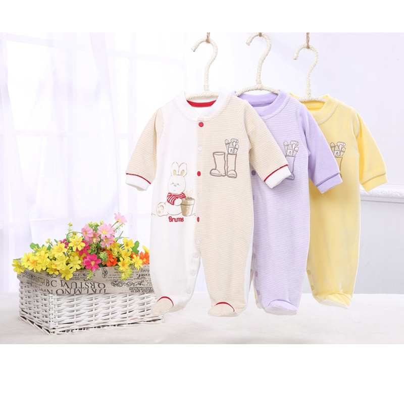 Baby clothes baby rompers velour pajamas kids clothes children winter warm baby clothing baby boy clothes girls overall jumpsuit