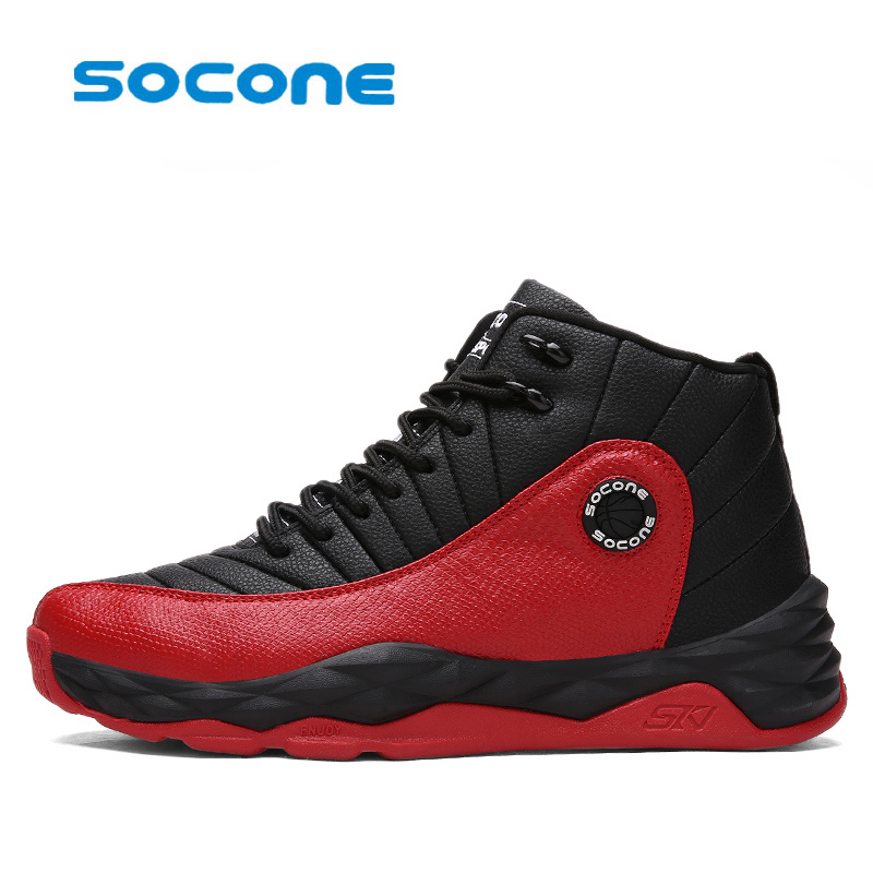 Socone Newest Men Basketball Shoes 2017 Male Ankle Boots Anti-slip outdoor Sport Sneakers Plus Size EU 39-45