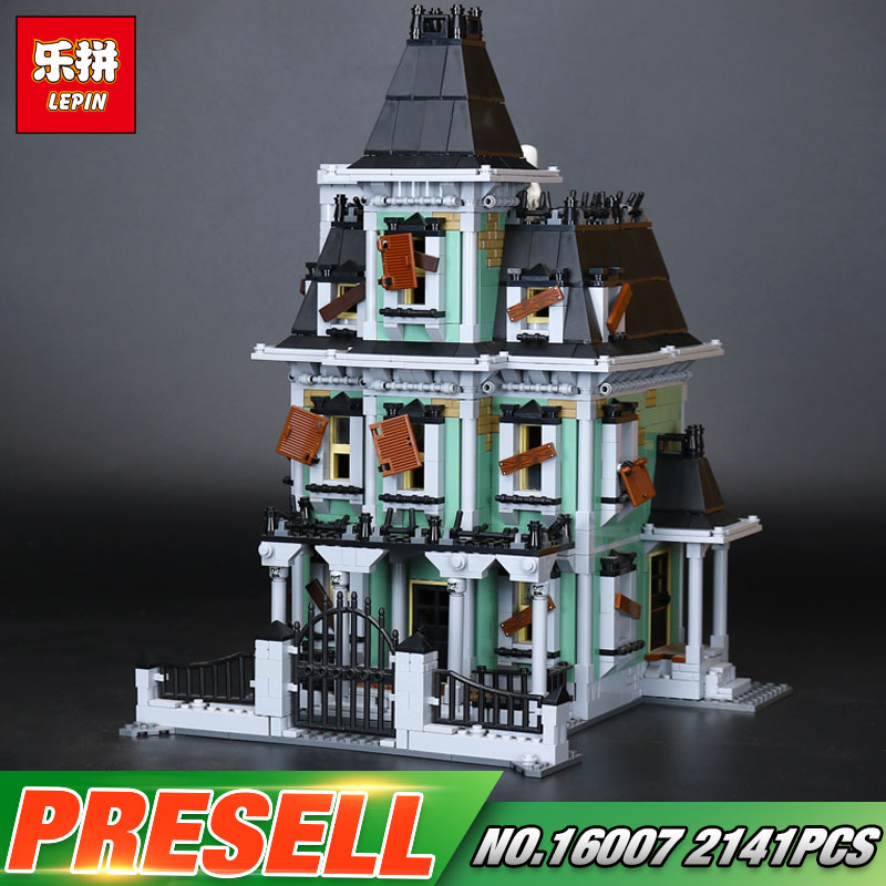 New LEPIN 16007 2141Pcs Monster fighter The haunted house Model set Building Kits Model Compatible With 10228 in stock new lepin 16007 2141pcs monster fighter the haunted house model set building kits model compatible with10228
