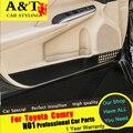 Para camry porta filme kick a porta estilo do carro guarnição 2015 2016 para camry porta interior molduras de proteção adesivos de cinema