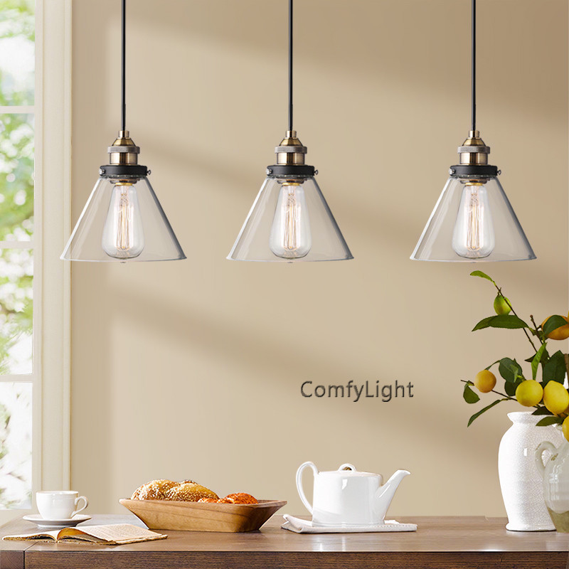 Glass Pendant Lights For Kitchen Island: Kitchen Island Glass Pendant Light Bar Cafe Restaurant