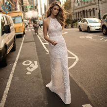Ameision Sexy Lace Mermaid Long Evening Dresses 2019 Evening Gown Women Party Sleeveless Backless Floor Length bodycon Dress цены