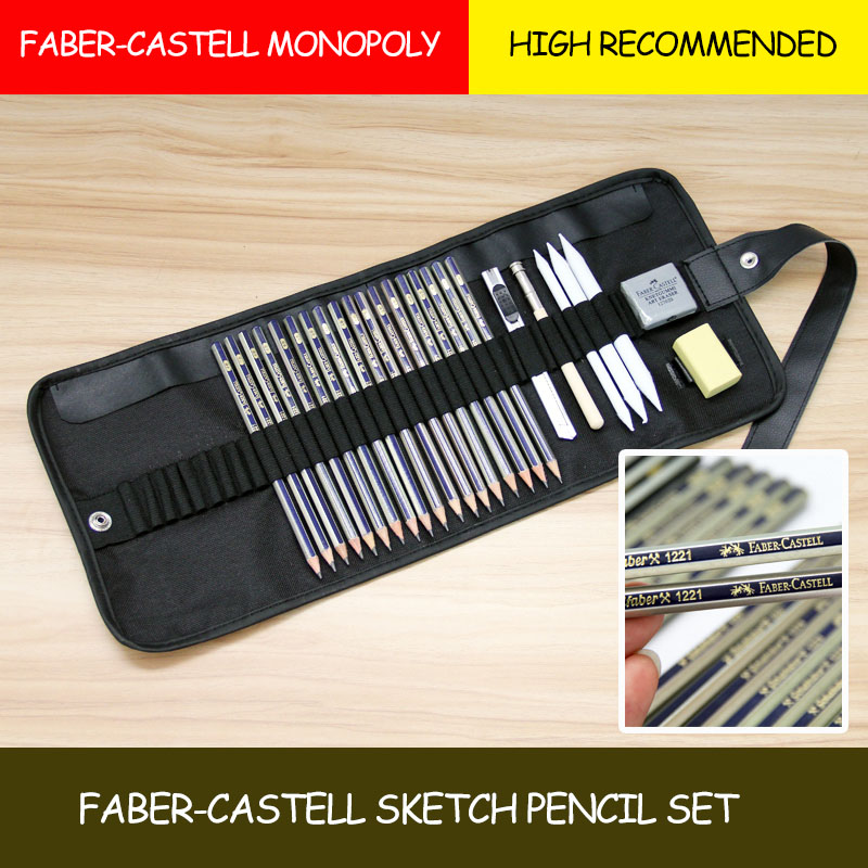 Faber-Castell Prime High Quality 25-piece Pencil Sketch Pencil Cover Charcoal Earser Pencil Tool Beginner Set Art Supplies Paint scribble scribble pen faber castell 25 pieces of pencil sketch sketch article carbon combination 112969