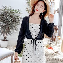 Women Lace Up Perspective Shirt Chiffon Kimono Cardigan Loose Long Sleeve Short Blouse Summer Cover Up Beach Plus Size ruoru 2017 beach cover up coat clothes plus size chiffon kimono blouse shirt women floral chiffon women tops for kimono cardigan