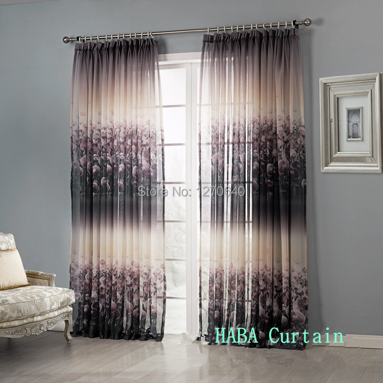 Modern curtain ideas contemporary semi sheer curtains for for Sheer panel curtain ideas