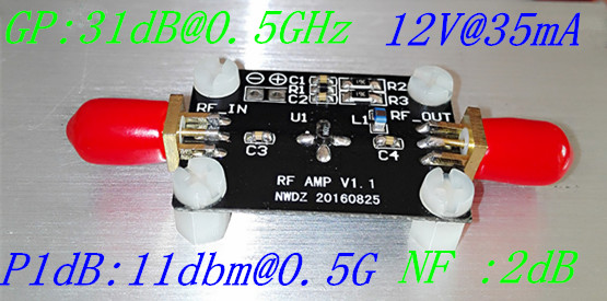 10K-2G LNA Low Noise Amplifier with High Gain 31DB 0.5G High Gain Flatness RF Amplifier lna пиджак