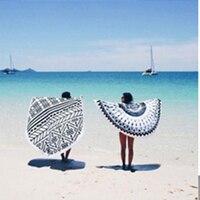 Large Womens Beach Towels Luxury For Adults Big Toalla Playa Redonda Adult Bathing Round Beach Bath Towel Mandala QQC313