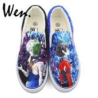 Wen Design Custom Anime Hand Painted Shoes Kabaneri Of The Iron Fortress Ikoma Mumei Unisex White